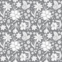 Naadloos patroon met de lentebloemen.