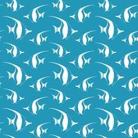 Naadloos patroon met wimpelvis. Vectorvissenpatroon. Zee leven vector patroon.