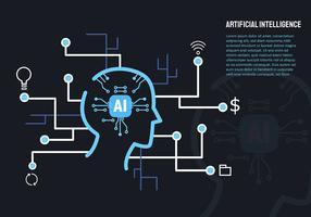 Kunstmatige intelligentie en laptop vector