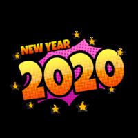 Komische tekstballon 2020
