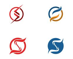 S-logo en symbolen sjabloon vector