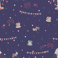 Pretpark naadloos patroon met schommelingskoppen en carrousel.