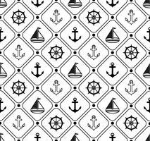 Mariene naadloos patroon. Geschikt voor behang, papier, decoratie.