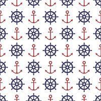 Nautische naadloze patroon vector