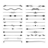 Verzameling van vector scheidingslijnen. Kan worden gebruikt voor ontwerp, brieven, juwelen, geschenken, notebooks