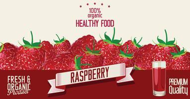 Raspberry retro vintage achtergrond