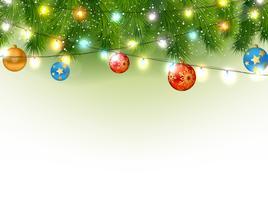 Kerstmisachtergrond met boom en licht vector