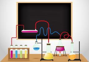 Chemische laboratoriumachtergrond vector