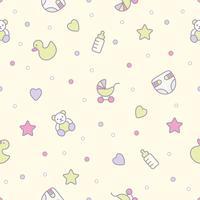 Babyspeelgoed naadloos patroon. Kan worden gebruikt voor textiel, papier en ander ontwerp.