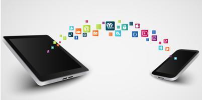 Smartphone apps pictogram concept achtergrond vector
