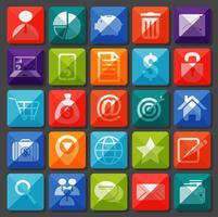 Nieuwe app-pictogrammen ingesteld in flat