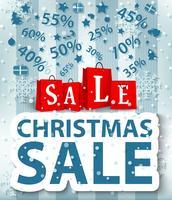 Kerst verkoop ontwerp met boodschappentas vector