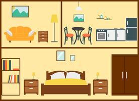 Home interieur ontwerp vector
