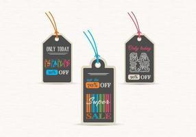 Schoolbord verkoop Label Tags Vector Set