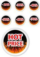 Heet prijssticker-etiket