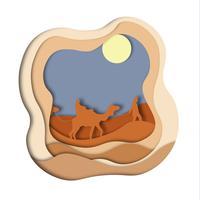 woestijn caravan kameel vector