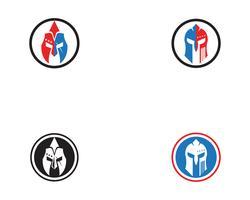 Spartaanse helm logo vector