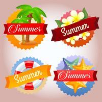 gemengd zomerbadge
