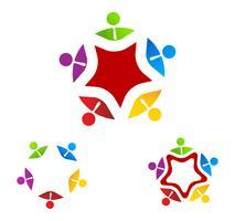Logo Group Zakelijk op ster vector