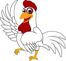 gelukkige witte kip vector