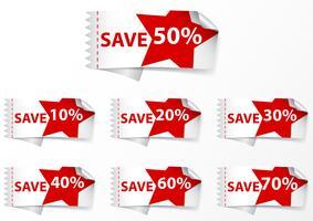 Labels van Discount Labels vector