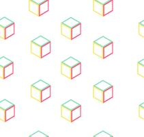 vorm abstracte doos naadloze patroon vector