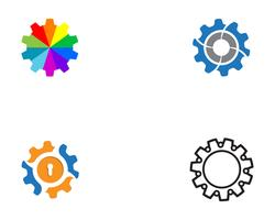 Gear Logo Template vector illustratie van de pictogramillustratie