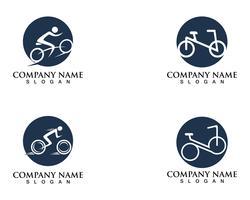 Fiets logo en symbolen vector