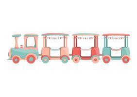 Cartoon kinderen trein pictogram