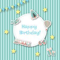 Kinderachtige verjaardagskaart vector