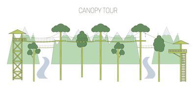 Eco-toerisme en zip-line