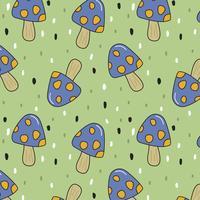 Paddenstoel patroon vector