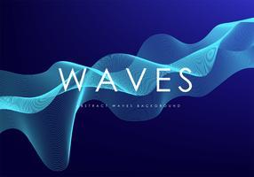 Abstract golven vectorontwerp