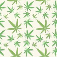 Groene cannabis verlaat patroon