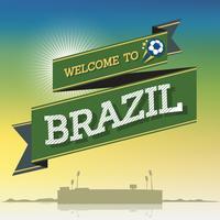 Welkom in Brazilië vector