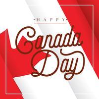 Canada dag vector ontwerp