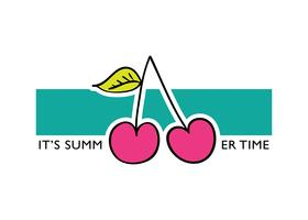 Het is zomertijd slogan tekst met kers