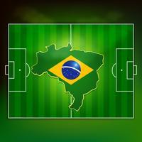voetbalveld van brazilië vector