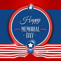 Gelukkige Memorial day-achtergrond vector