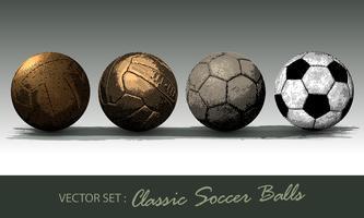 klassieke voetbal vector