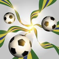 Voetbalbal met vlaggen vector