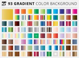 Set van 93 vierkante gradiënt kleuren achtergronden vector