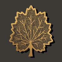 Maple blad sjabloon