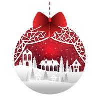 Kerst achtergrond papierstijl vector