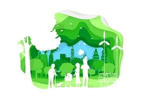Ecologische papierkunststijl vector