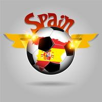 Spanje voetbal vector