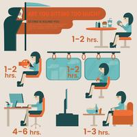 Zit risico's infographic vector