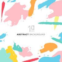 Abstracte de pastelkleurenkleur van het vormenkunst op witte achtergrond. vector