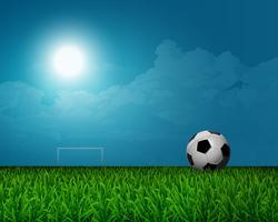 Groene voetbal veld achtergrond