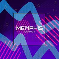 Memphis achtergrond sjabloon vector